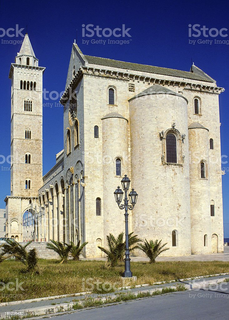 Trani cathedral in Apulia, Italy royalty-free stock photo