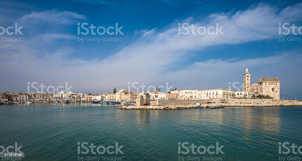 Trani, scenic town at Adriatic sea, Puglia, Italy stock photo