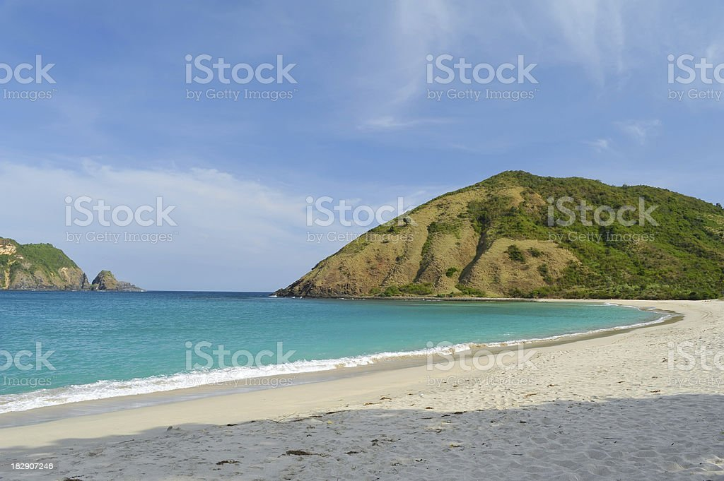 tranquil beach stock photo