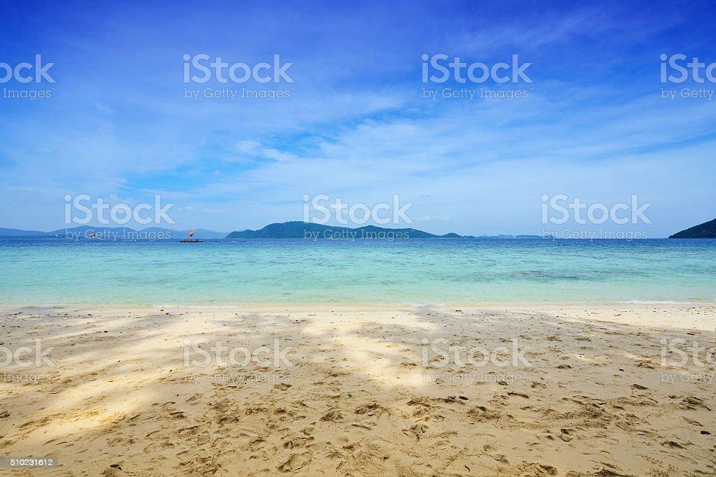 Tranquil Beach Scene stock photo