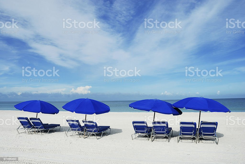 Tranquil beach scene royalty-free stock photo