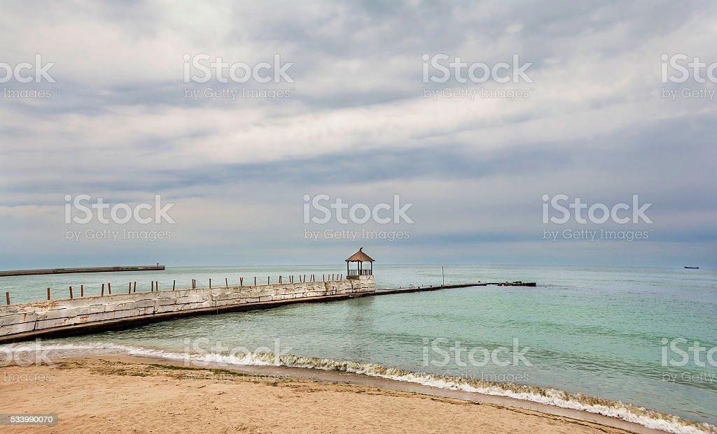 Tranquil cloudy summer day  at Balchik, Bulgaria stock photo