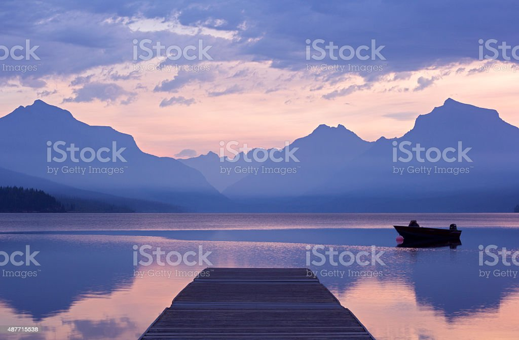 Tranquil dawn stock photo