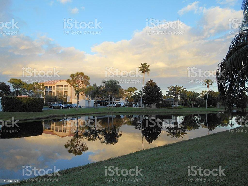 Tranquil Day in Sarasota Florida stock photo
