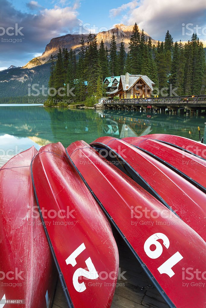 Tranquil Emerald Lake royalty-free stock photo