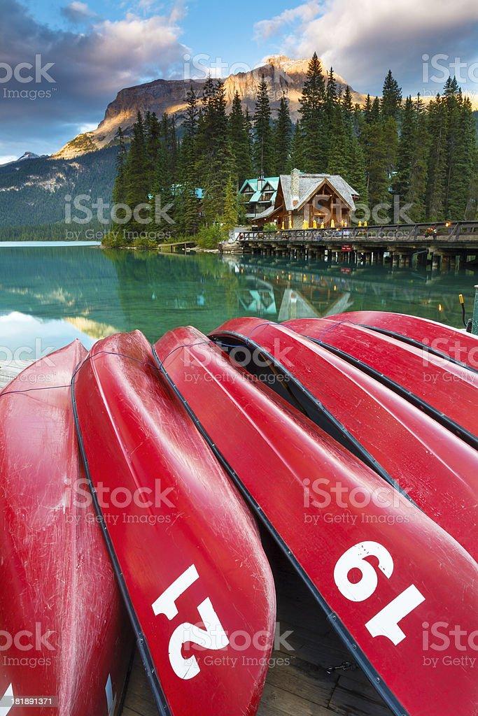 Tranquil Emerald Lake stock photo