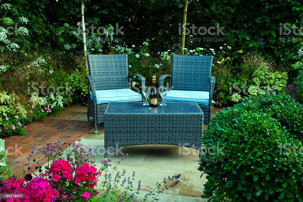 Tranquil garden stock photo