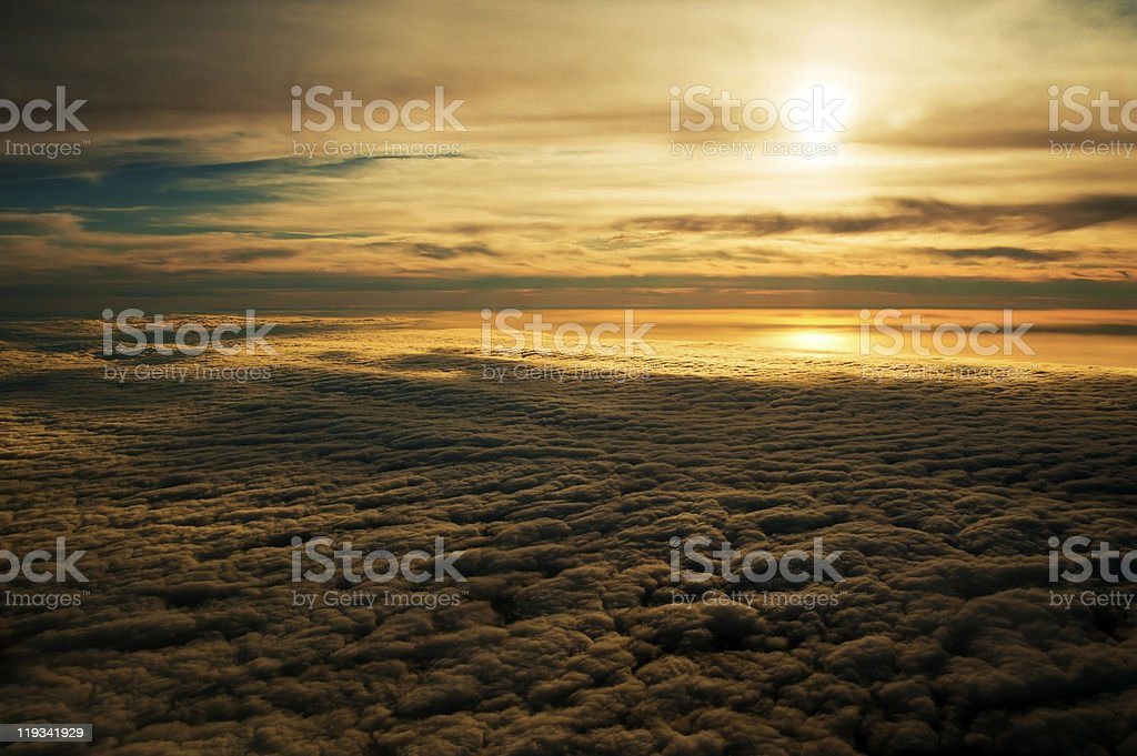 Tranquil Golden Sunset over the Falkland Islands royalty-free stock photo