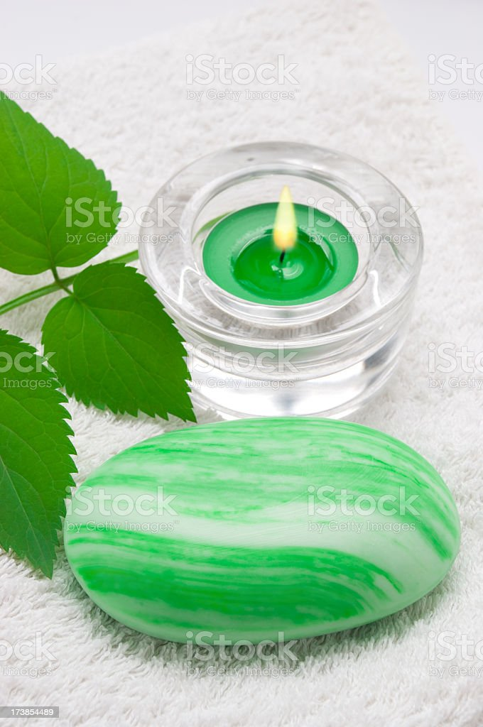 Tranquil image of a spa set up royalty-free stock photo