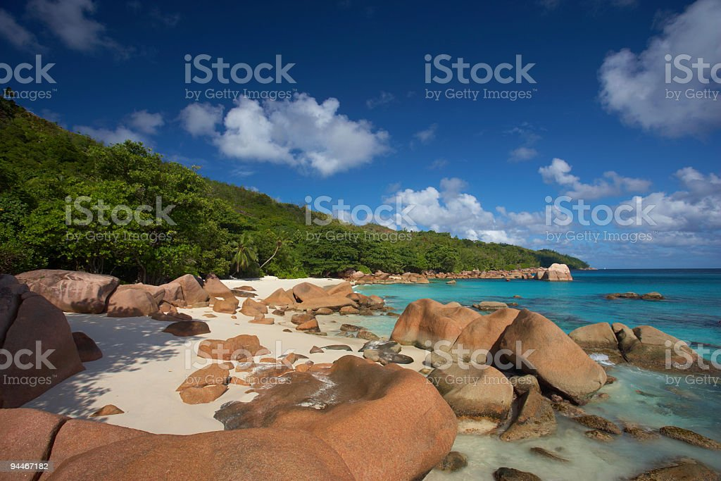 tranquil lagoon stock photo