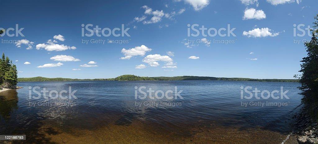 Tranquil Lake Panorama royalty-free stock photo