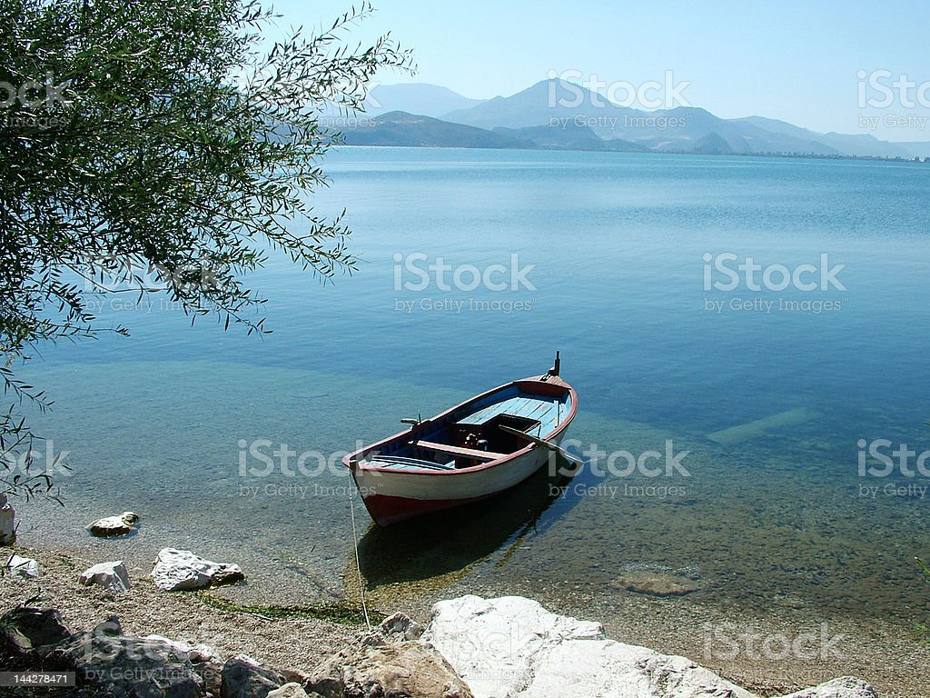 Tranquil Lake stock photo