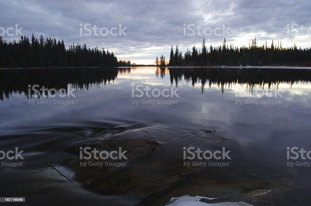 Tranquil Manitoba Lake stock photo