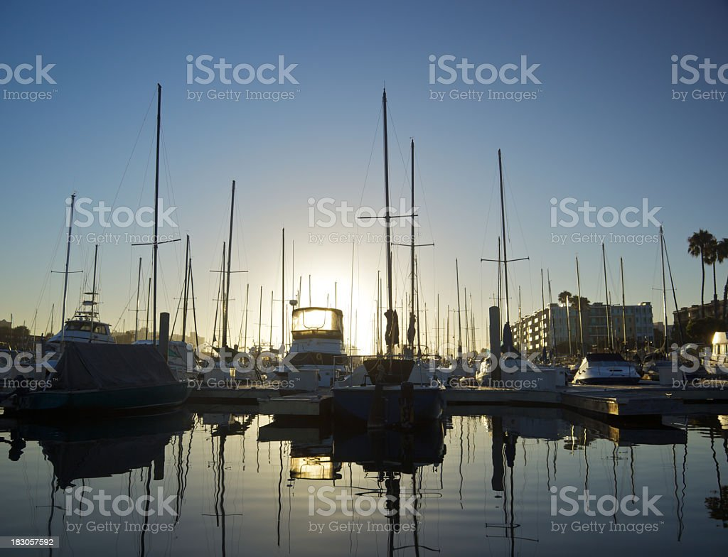 Tranquil Marina at Dawn royalty-free stock photo