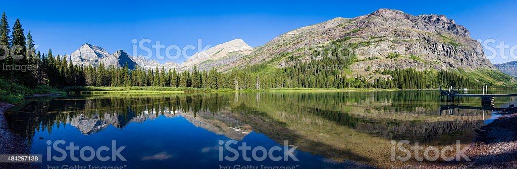 Tranquil Morning at Lake Josephine stock photo