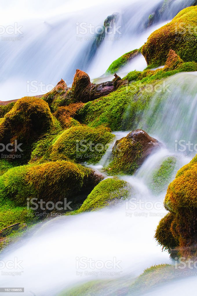 Tranquil mountain stream royalty-free stock photo