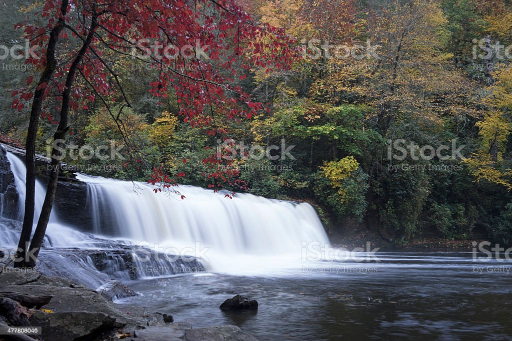 Tranquil North Carolina Waterfalls stock photo