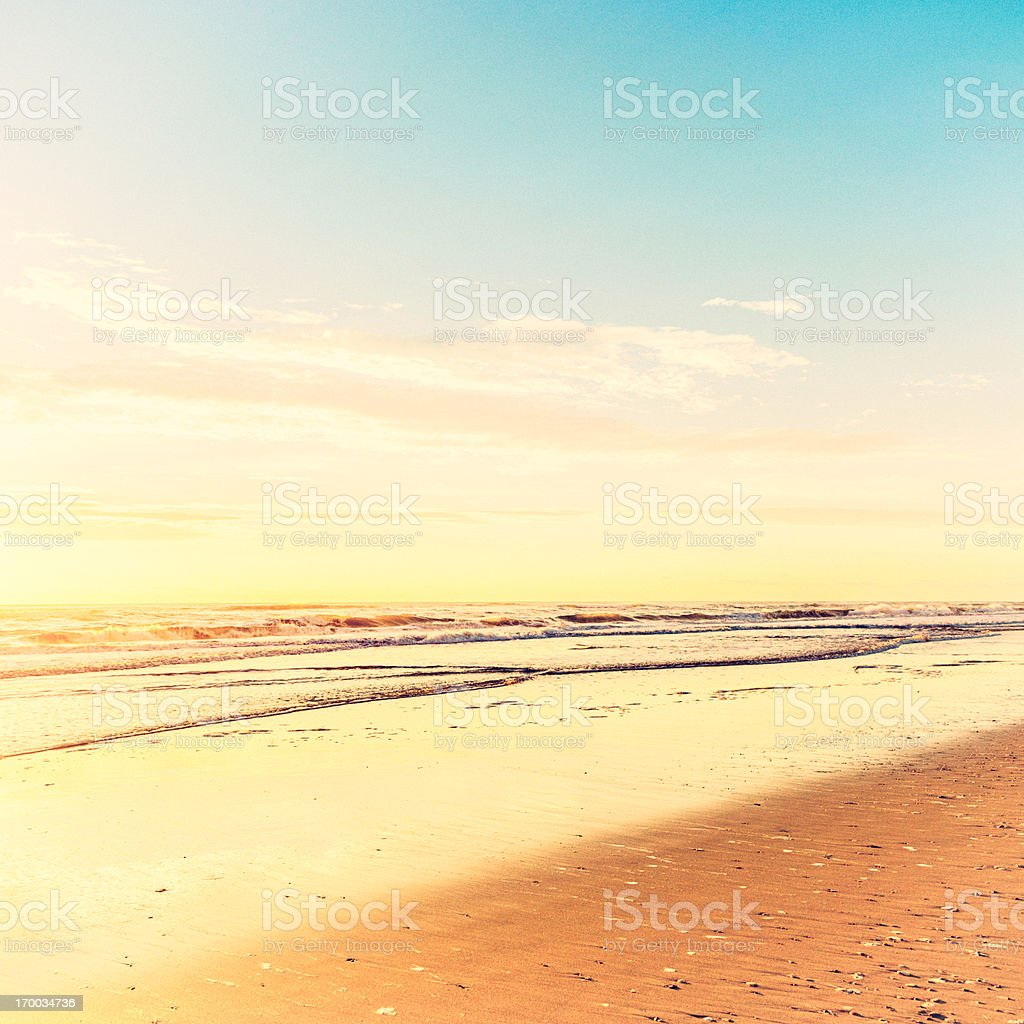 Tranquil Ocean with Copy Space stock photo