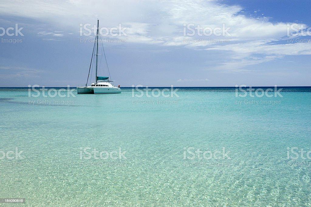 Tranquil Sailboat royalty-free stock photo