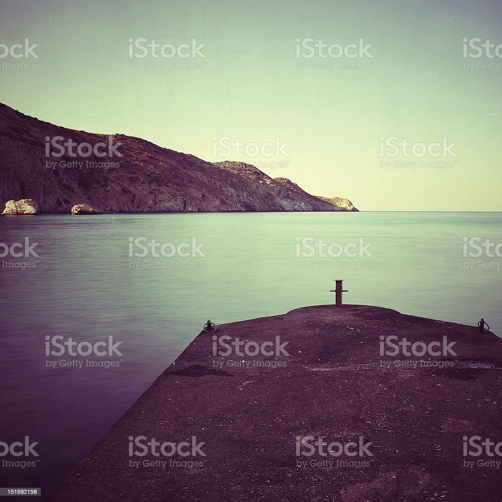 Tranquil scene at rest, vintage style stock photo