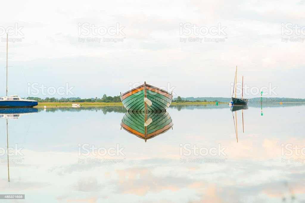 Tranquil scene by a lake stock photo
