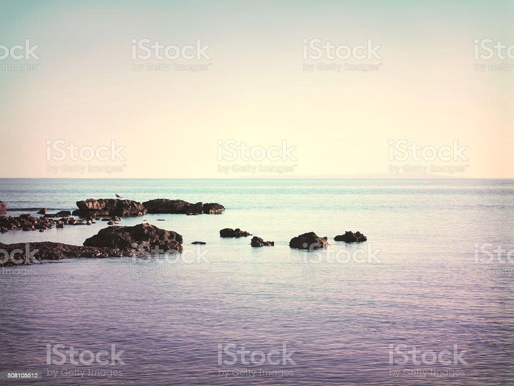 Tranquil scene, sea scene stock photo