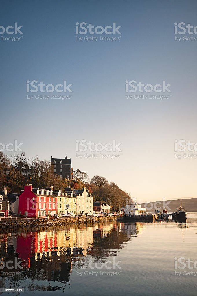 Tranquil Tobermory Morning stock photo