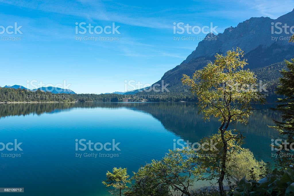Tranquil Water on Lake Eib stock photo