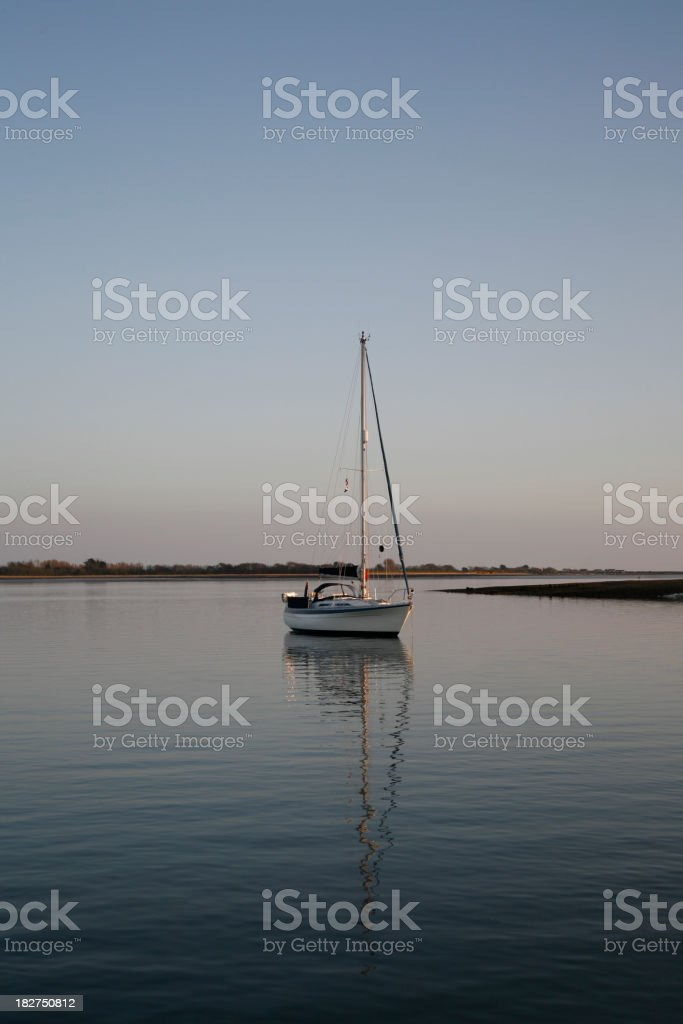 Tranquil Yacht Anchorage royalty-free stock photo