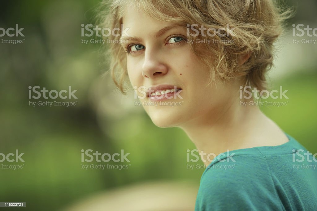 Tranquil young woman royalty-free stock photo