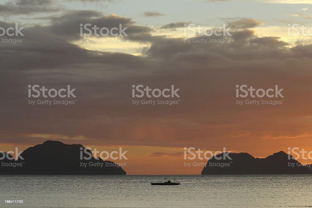 Tranquila Puesta de sol stock photo