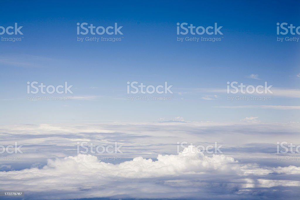 Tranquility at 35000 Feet royalty-free stock photo