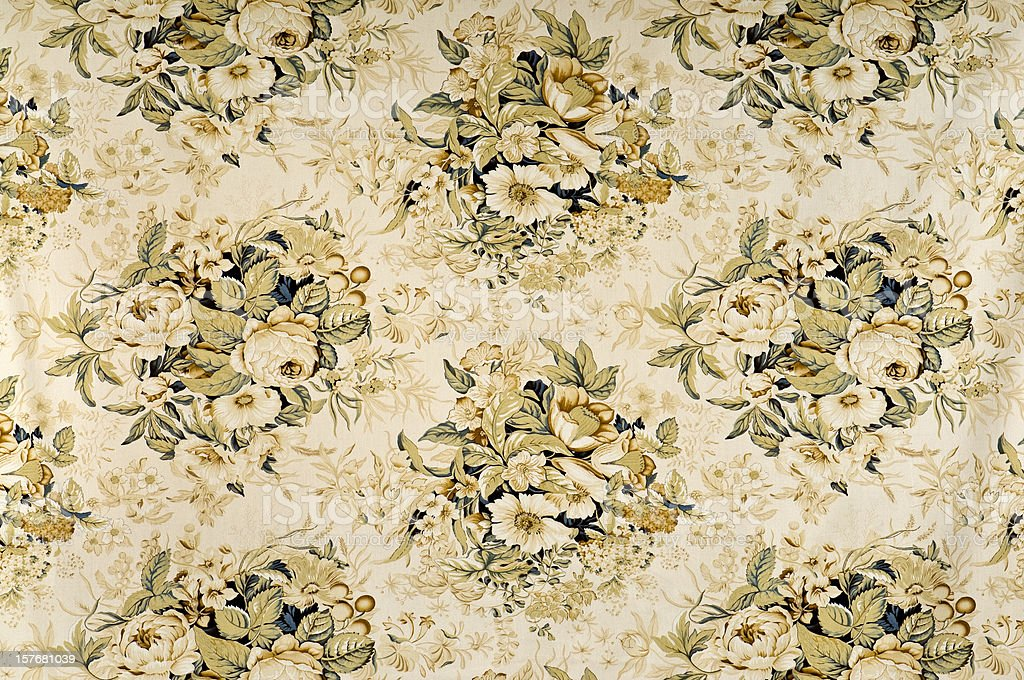 Tranquility Medium Antique Floral Fabric royalty-free stock photo