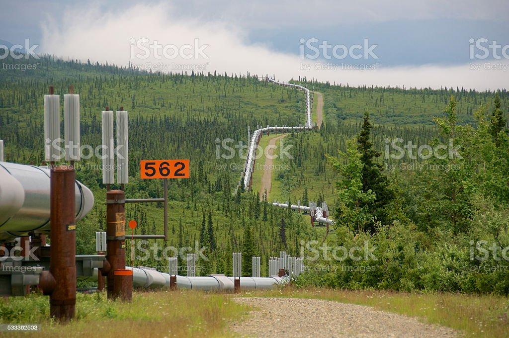 Trans Alaska Pipeline System stock photo