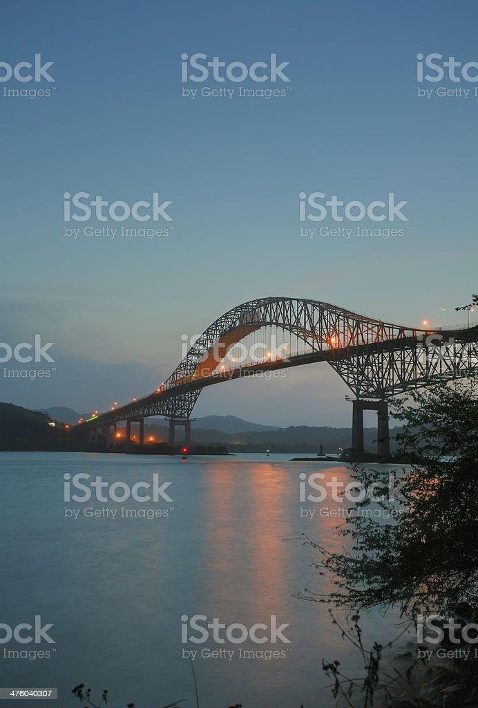 Trans American bridge in Panama stock photo