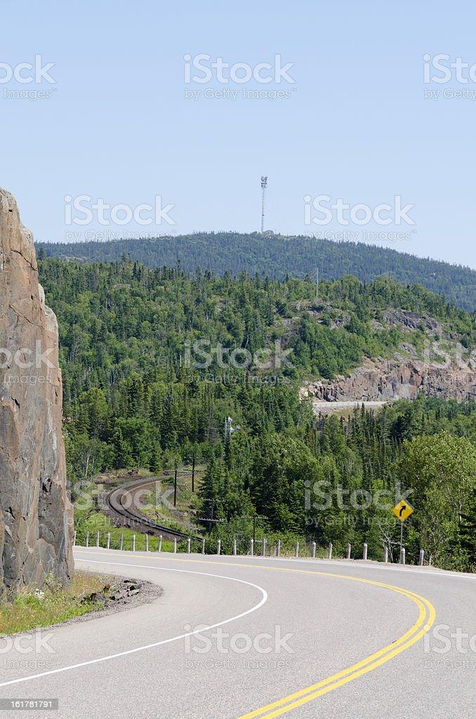 Trans Canada highway stock photo