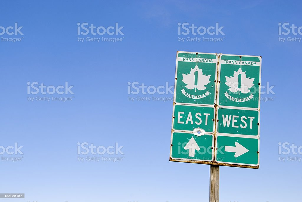 Trans Canadian Highway stock photo