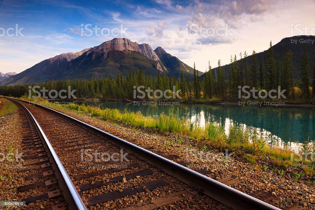 Trans Canadian Railway stock photo