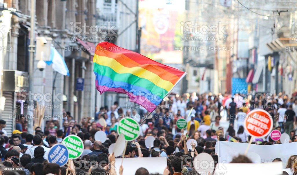 Trans Pride Istanbul 2015 stock photo