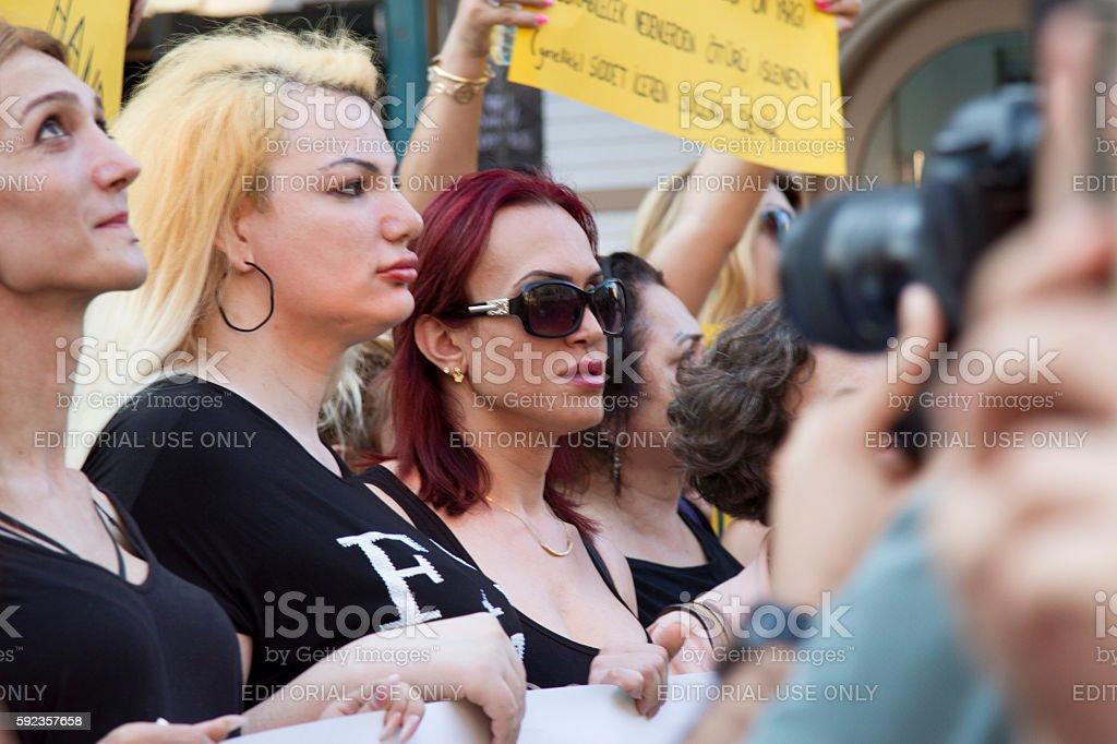Trans protest killings stock photo