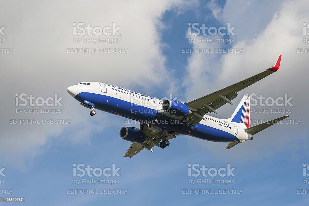 OJSE Transaero Boeing 737 royalty-free stock photo