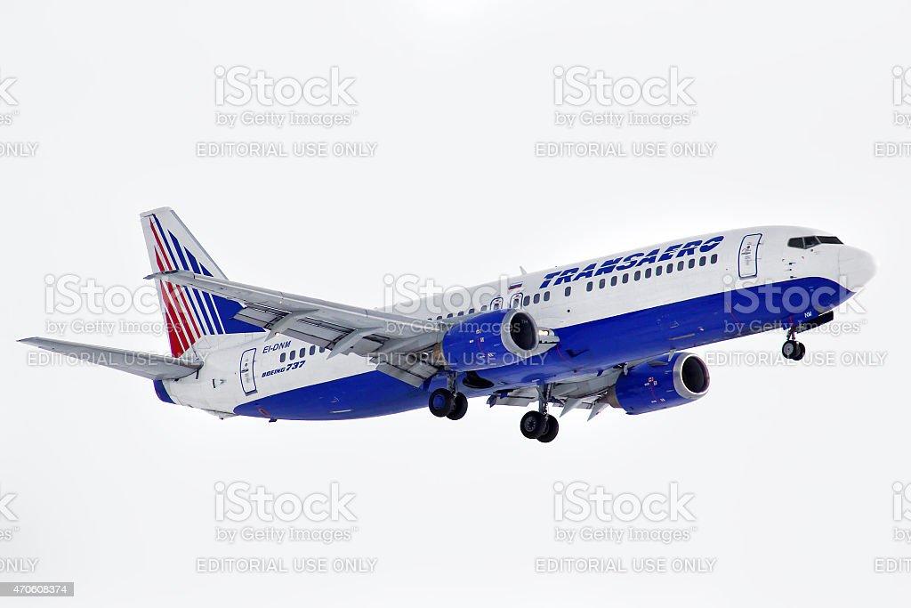Transaero Boeing 737 stock photo