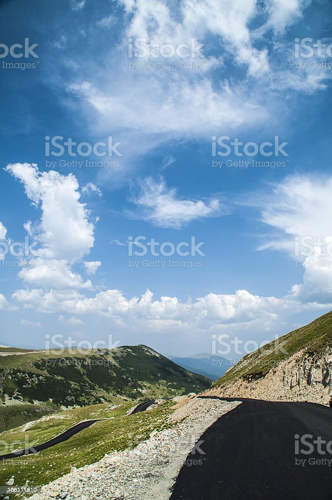 Transalpina Mountain Road in a beautiful summer day royalty-free stock photo