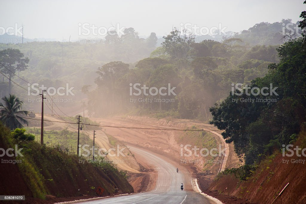 Trans-Amazonian Highway in Brazil stock photo