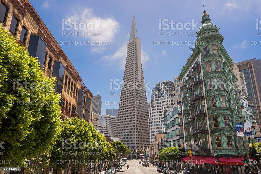 Transamerica bank building, San Francisco, USA stock photo