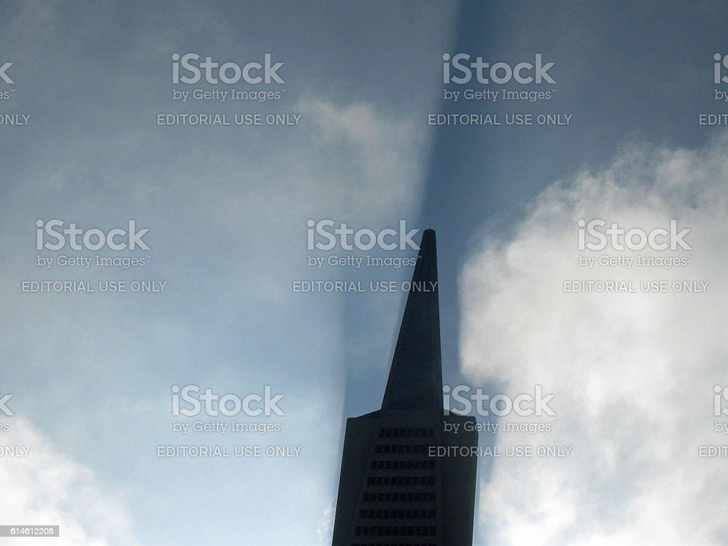 Transamerica Building And Morning Light stock photo