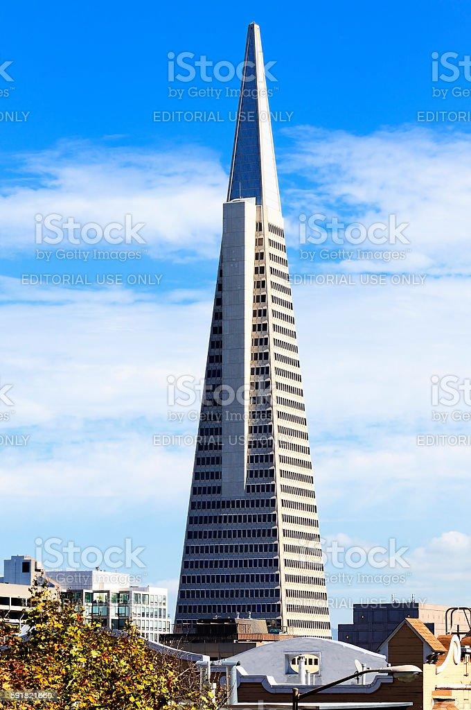 Transamerica building in San Francisco stock photo