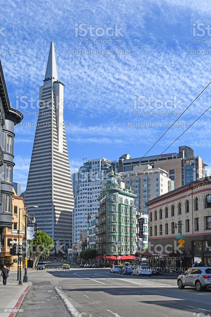 Transamerica building, San Francisco stock photo