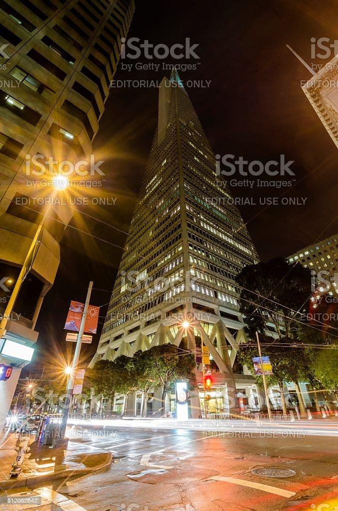 Transamerica Pyramid, San Francisco stock photo
