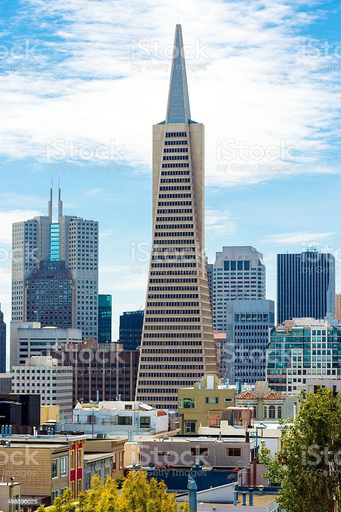 Transamerica Pyramid, San Francisco, USA stock photo